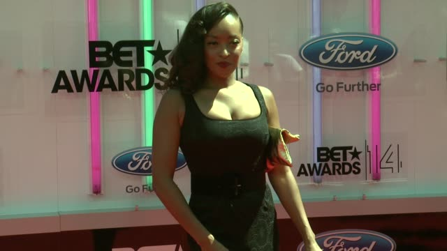 jennia fredrique at the 2014 bet awards on june 29 2014 in los angeles california - bet awards stock videos and b-roll footage