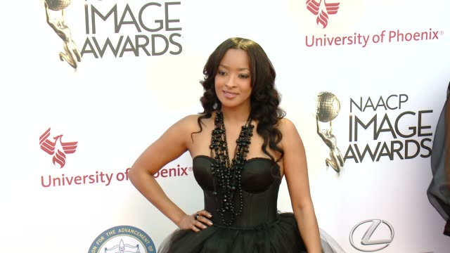 stockvideo's en b-roll-footage met jennia fredrique at the 46th annual naacp image awards arrivals at pasadena civic auditorium on february 06 2015 in pasadena california - pasadena civic auditorium