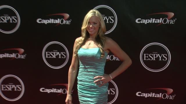 jennie finch at the 2014 espy awards in los angeles ca - espy awards stock videos & royalty-free footage
