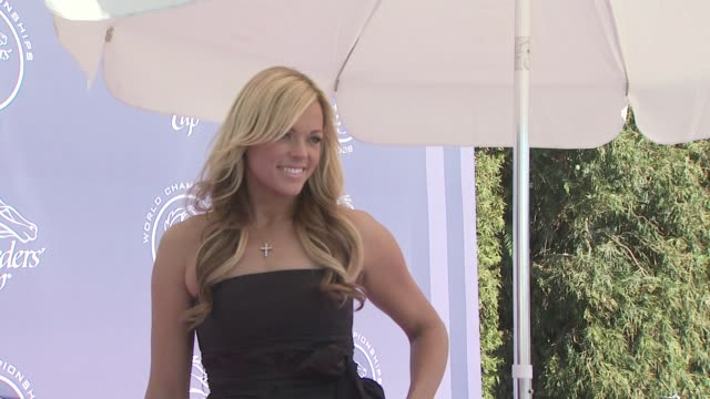 jennie finch at the breeders' cup world championships day one at los angeles ca. - championships stock videos & royalty-free footage
