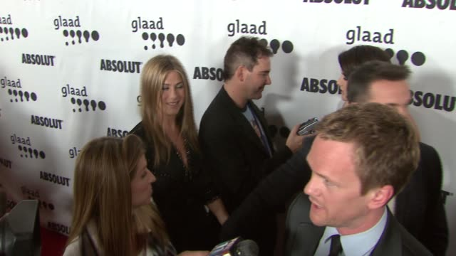 jennifer aniston and neil patrick harris at the 18th annual glaad media awards at the kodak theatre in hollywood california on april 14 2007 - 2007 stock videos & royalty-free footage