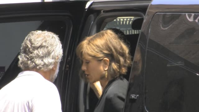 jennifer aniston arrives to the set of 'squirrels to the nuts' jennifer aniston arrives to the set of 'squirrels on july 21 2013 in new york new york - film set stock videos & royalty-free footage