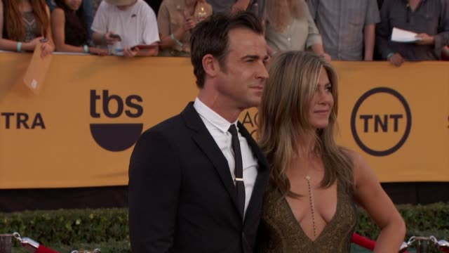jennifer aniston at 21st annual screen actors guild awards - arrivals in los angeles, ca 1/25/15 - screen actors guild stock videos & royalty-free footage