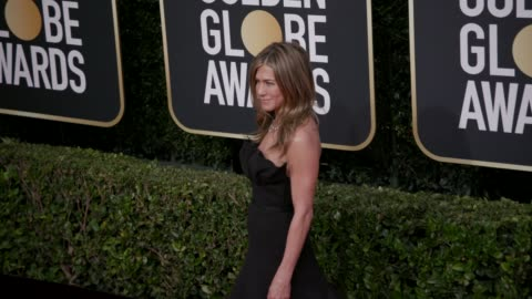 jennifer aniston at 77th annual golden globe awards at the beverly hilton hotel on january 05, 2020 in beverly hills, california. - golden globe awards stock videos & royalty-free footage