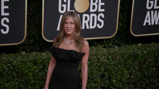 jennifer aniston at 77th annual golden globe awards at the beverly hilton hotel on january 05 2020 in beverly hills california - jennifer aniston stock videos & royalty-free footage