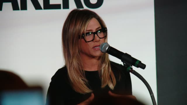 speech jennifer aniston at marie claire's image maker awards in los angeles ca - jennifer aniston stock videos & royalty-free footage