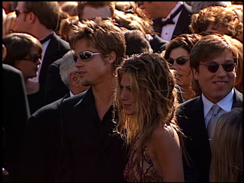 jennifer aniston at the 1999 emmy awards at the shrine auditorium in los angeles, california on september 12, 1999. - emmy awards stock-videos und b-roll-filmmaterial