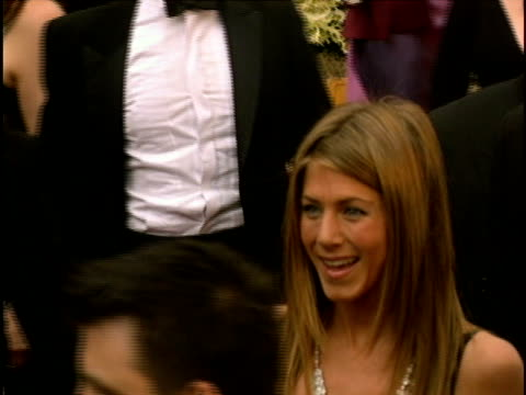 jennifer aniston at the 78th annual academy awards - arrivals at hollywood california. - black dress stock videos & royalty-free footage