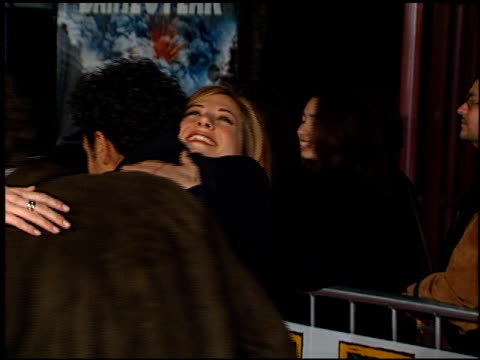 jennifer aniston at the 'dante's peak' premiere at universal amphitheatre in universal city california on february 5 1997 - 1997 stock videos & royalty-free footage