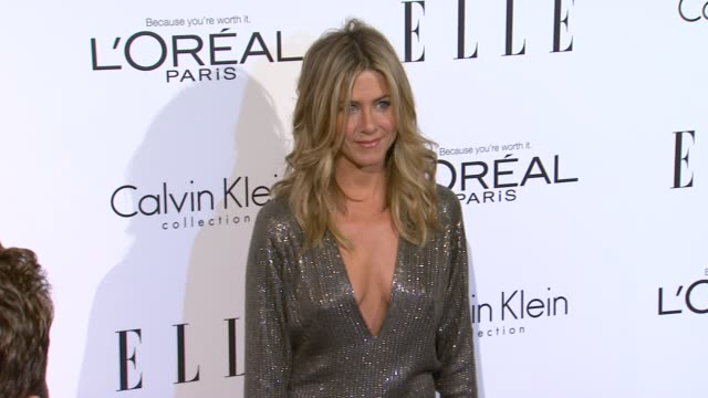 jennifer aniston at the elle's 18th annual women in hollywood tribute at beverly hills ca - jennifer aniston stock videos & royalty-free footage