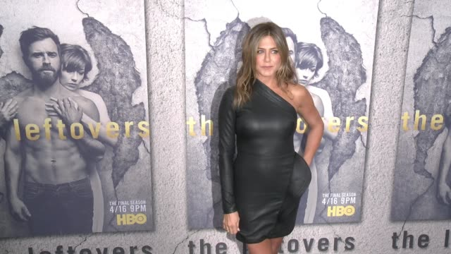 jennifer aniston at the premiere of hbo's the leftovers season 3 at avalon hollywood on april 04 2017 in los angeles california - jennifer aniston stock videos & royalty-free footage