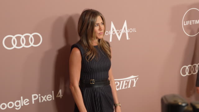 jennifer aniston at the variety's 2019 power of women los angeles at the beverly wilshire four seasons hotel on october 11 2019 in beverly hills... - jennifer aniston stock videos & royalty-free footage