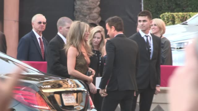 Jennifer Aniston Justin Theroux arriving at the 21st Annual Screen Actors Guild Awards in Los Angeles Celebrity Sightings in Los Angeles CA on