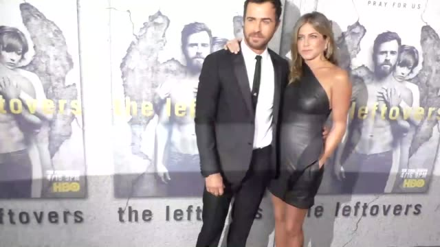 jennifer aniston justin theroux at the premiere of hbo's the leftovers season 3 at avalon hollywood on april 04 2017 in los angeles california - jennifer aniston stock videos & royalty-free footage