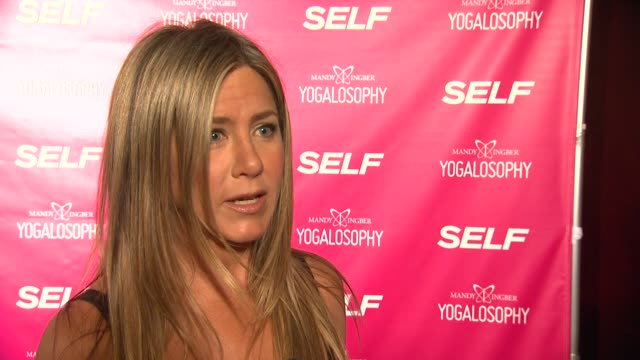 INTERVIEW Jennifer Aniston on the event and excersize at SELF Magazine And Jennifer Aniston Celebrate Mandy Ingber's New Book Yogalosophy 28 Days To...