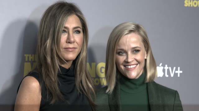 jennifer aniston reese witherspoon at 'the morning show' special screening at ham yard hotel on november 01 2019 in london england - jennifer aniston stock videos & royalty-free footage