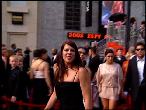 jennifer capriati at the espy awards at the kodak theatre in hollywood, california on july 10, 2002. - espy awards stock videos & royalty-free footage
