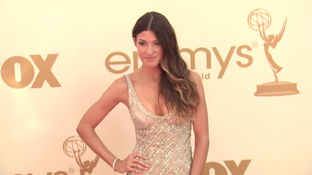 jennifer carpenter at the 63rd primetime emmy awards arrivals part 1 at los angeles ca - 63rd annual primetime emmy awards stock videos and b-roll footage