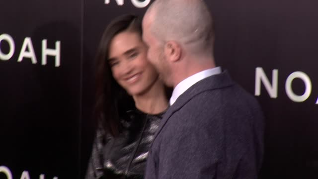jennifer connelly and darren aronofsky at noah new york premiere arrivals at ziegfeld theater on march 26 2014 in new york city - darren aronofsky stock videos and b-roll footage
