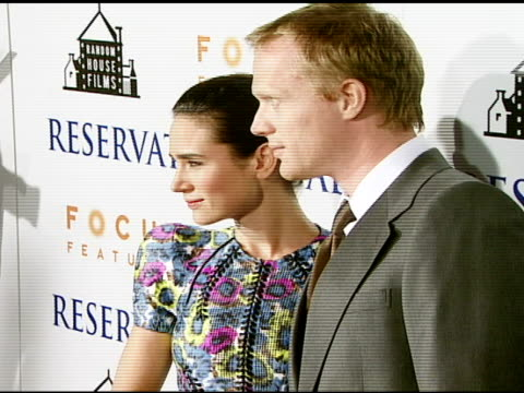 jennifer connelly and paul bettany at the 'reservation road' los angeles premiere at academy of motion picture arts and sciences in beverly hills,... - academy of motion picture arts and sciences video stock e b–roll