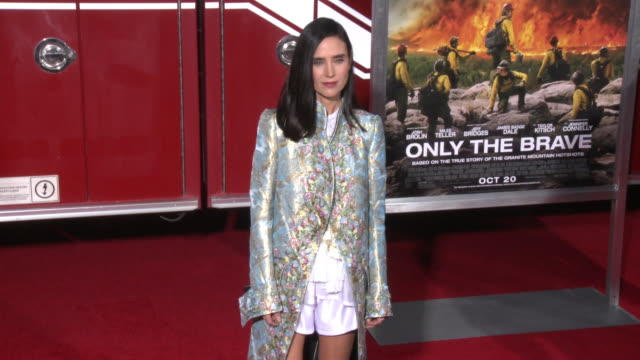 jennifer connelly at the only the brave premiere at regency village theatre on october 08 2017 in westwood california - only the brave 2017 film stock videos & royalty-free footage