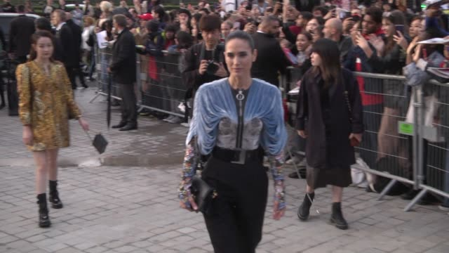 jennifer connelly attends the louis vuitton womenswear spring/summer 2020 show as part of paris fashion week on october 1 2019 in paris france - paris fashion week stock videos & royalty-free footage