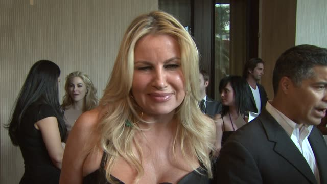 Jennifer Coolidge on the event the Canadian Seal Hunt honoring Ellen Degeneres and Portia deRossi at the 23rd Genesis Awards at Los Angeles CA