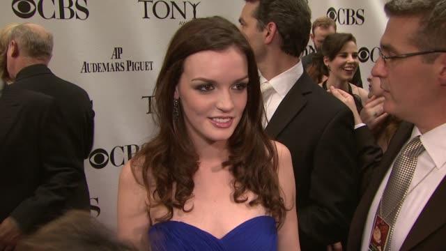 Jennifer Damiano at the 63rd Annual Tony Awards Red Carpet at New York NY