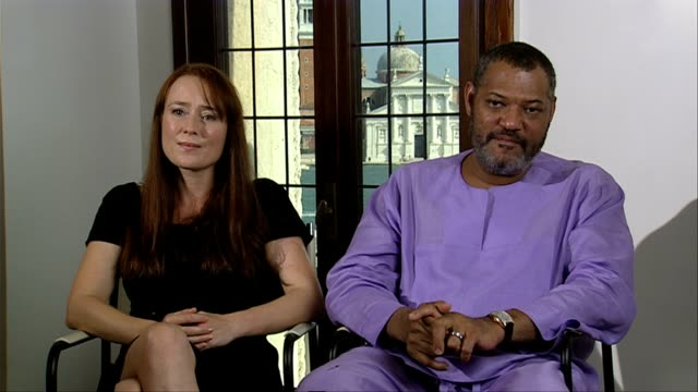 Jennifer Ehle and Laurence Fishburne on Steven Soderbergh as a Director at the Contagion Interviews Venice Film Festival 2011 at Venice