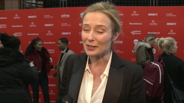 INTERVIEW Jennifer Ehle on loving the script and novel at the 'Monster' World Premiere 2018 Sundance Film Festival at Eccles Center Theatre on...