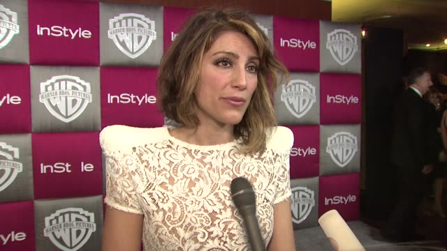 Jennifer Esposito on Mickey Rourke winning why she inspired by his speech at the InStyle 2009 Golden Globes After Party Part 4 at Los Angeles CA