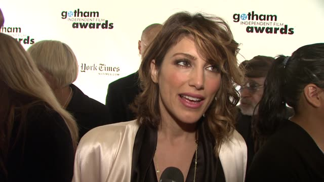 Jennifer Esposito on presenting tonight if she had any favorites in the category what makes tonight special and why she thinks indie films should be...