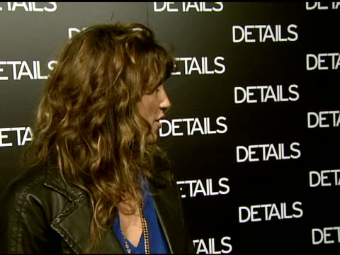 Jennifer Esposito on what she appreciates about 'Details Magazine' what mavericks she admires and the issue's cover at the Details Magazine...