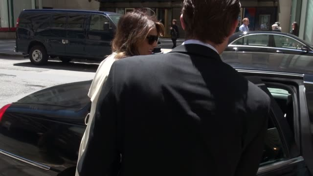Jennifer Esposito walking to her car outside of NBC Studios in Rockefeller Center in Celebrity Sightings in New York