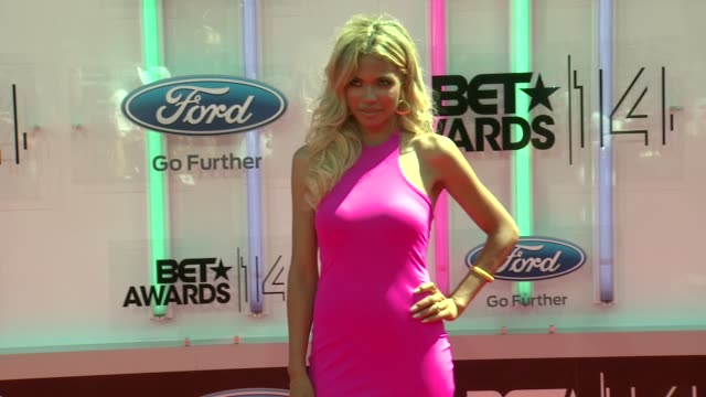 jennifer freeman at the 2014 bet awards on june 29 2014 in los angeles california - bet awards stock videos and b-roll footage
