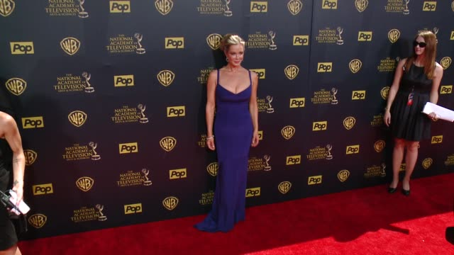 jennifer gares at 42nd annual daytime emmy awards at warner bros studios on april 26 2015 in burbank california - annual daytime emmy awards stock videos & royalty-free footage