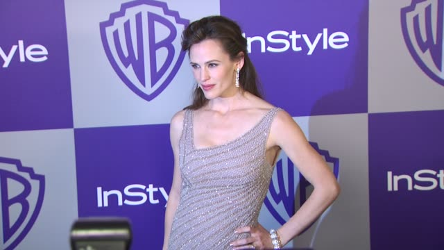 vídeos y material grabado en eventos de stock de jennifer garner at the warner bros and instyle golden globe afterparty at beverly hills ca - warner bros