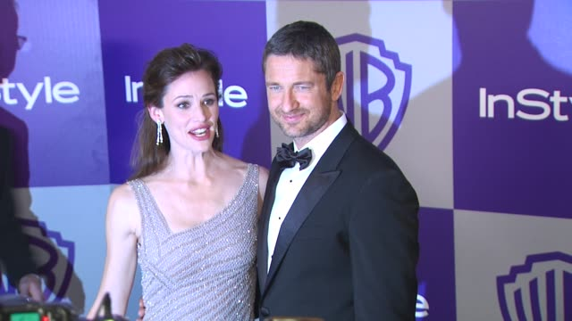 vídeos y material grabado en eventos de stock de jennifer garner gerard butler at the warner bros and instyle golden globe afterparty at beverly hills ca - warner bros