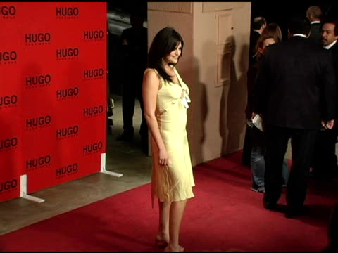 jennifer gimenez at the bash and celebration of hugo boss' fall winter 2005 collections at the beverly hilton in beverly hills, california on march... - hugo boss stock videos & royalty-free footage
