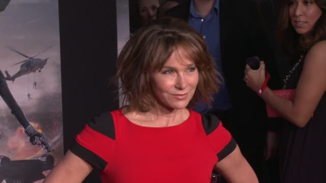 jennifer grey at the captain america the winter soldier los angeles premiere at the el capitan theatre on march 13 2014 in hollywood california - el capitan theatre stock videos and b-roll footage