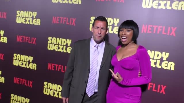 Jennifer Hudson Adam Sandler at the Premiere Of Netflix's 'Sandy Wexler' Arrivals on April 06 2017 in Hollywood California