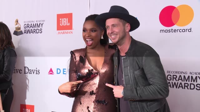 jennifer hudson and ryan tedder at clive davis pregrammy gala at sheraton times square on january 27 2018 in new york city - jennifer hudson stock videos & royalty-free footage