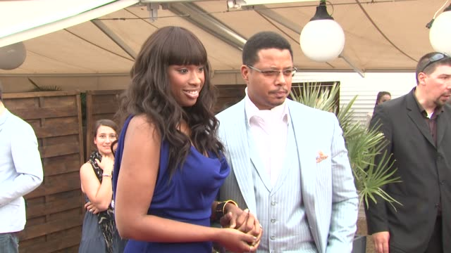jennifer hudson and terrence howard at the winnie cocktail party: cannes film festival 2010 at cannes . - terrence howard stock videos & royalty-free footage