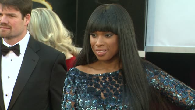 jennifer hudson at 85th annual academy awards arrivals on 2/24/13 in los angeles ca - jennifer hudson stock videos & royalty-free footage