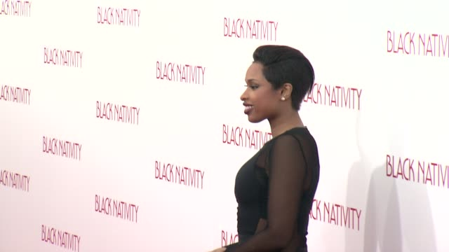 jennifer hudson at 'black nativity' new york premiere presented by fox searchlight pictures at the the apollo theater on 11/18/13 in new york, ny. - jennifer hudson stock videos & royalty-free footage
