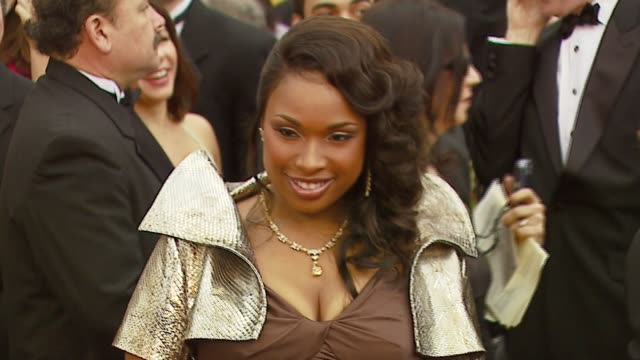 jennifer hudson at the 2007 academy awards arrivals at the kodak theatre in hollywood california on february 25 2007 - jennifer hudson stock videos & royalty-free footage