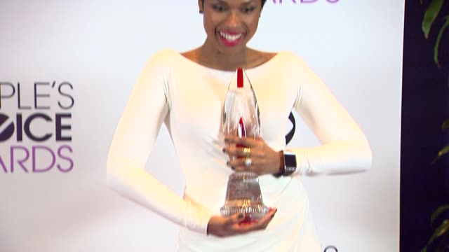 jennifer hudson at the 40th annual people's choice awards - photo room at nokia theatre l.a. live on in los angeles, california. - jennifer hudson stock videos & royalty-free footage