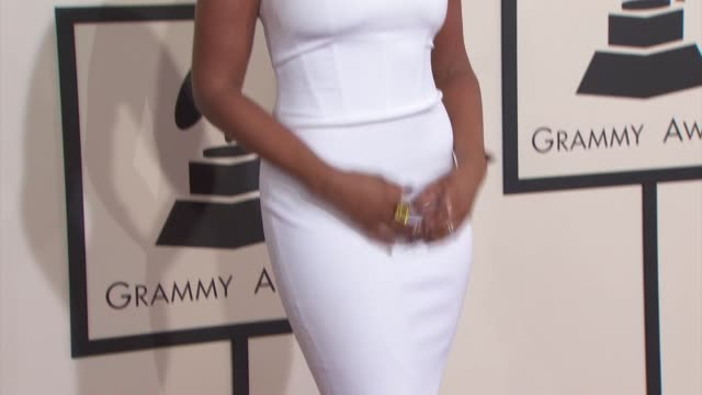 jennifer hudson at the 57th annual grammy awards red carpet at staples center on february 08 2015 in los angeles california - jennifer hudson stock videos & royalty-free footage