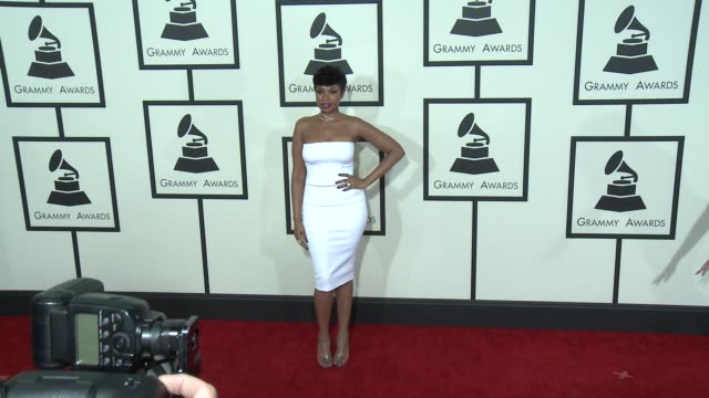 jennifer hudson at the 57th annual grammy awards - red carpet at staples center on february 08, 2015 in los angeles, california. - jennifer hudson stock videos & royalty-free footage