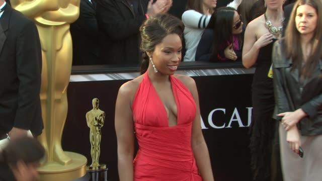 jennifer hudson at the 83rd annual academy awards - arrivals at hollywood ca. - ジェニファー・ハドソン点の映像素材/bロール